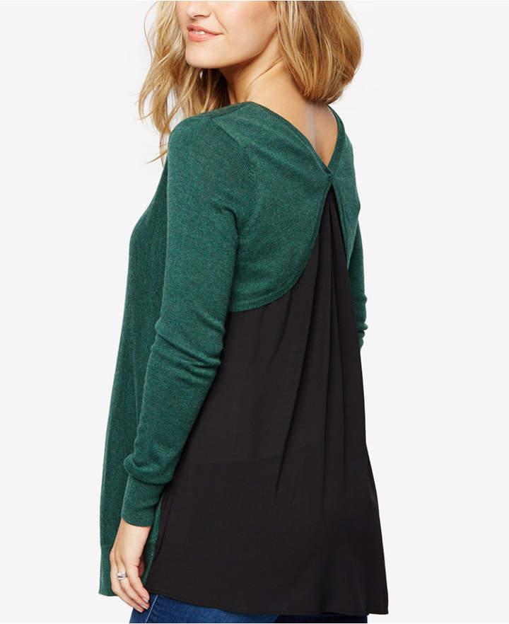 A Pea In The PodA Pea In The Pod Maternity Cross-Back Sweater