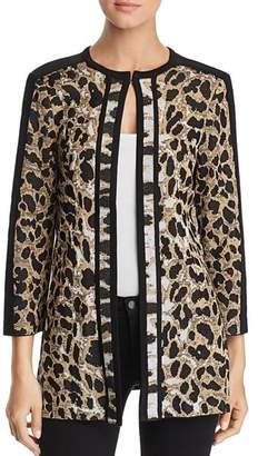 Misook Leopard Print Knit Jacket