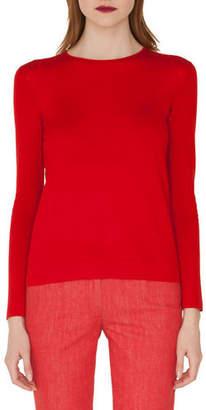 Akris Cashmere/Silk Pullover Sweater