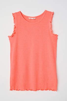 H&M Ribbed Tank Top - Orange