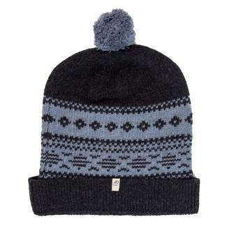 40 Colori - Charcoal-Light Blue Norwegian Wool & Cashmere Beanie