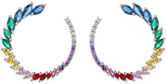 Eye Candy Los Angeles Eye Candy La Danielle Roman Multi Color Cz Crystal Loop Earring