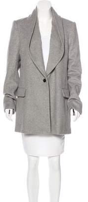 Halston Wool-Blend Short Coat