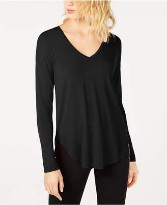INC International Concepts I.n.c. V-Neck Curved-Hem T-Shirt