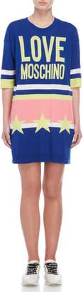 Love Moschino Graphic Sweater Dress