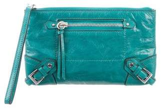 MICHAEL Michael Kors Leather Zip Clutch