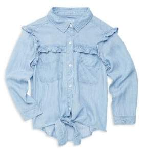 Rails Girl's Ruffle Button-Down Shirt