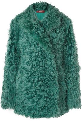 Pippa Sies Marjan Shearling Coat - Emerald