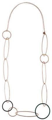La Nouvelle Bague Enamel Link Necklace w/ Tags
