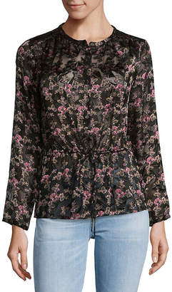 Rebecca Taylor Floral Cinch Waist Top