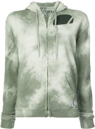 Freecity tie dye zipped hoodie