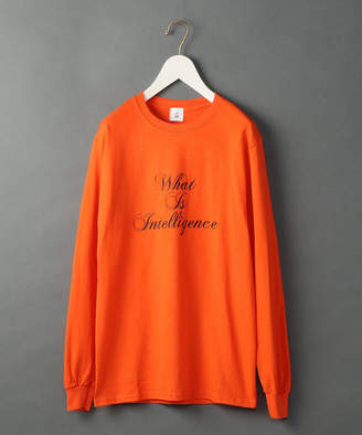[6(ROKU)]WHAT IS INTELLIGENCE LONG SLLEVE T-SHIRT/Tシャツ