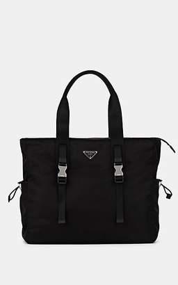 Prada Men s Leather-Trimmed Tote Bag - Black 3439178c134c7