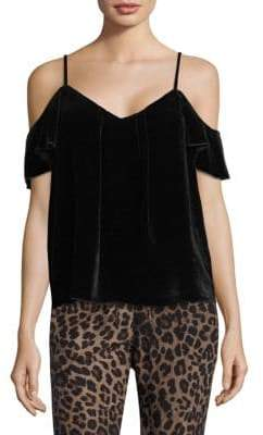 Joie Adorlee Cold-Shoulder Velvet Top
