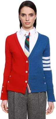 Thom Browne Color Block Cashmere Knit Cardigan