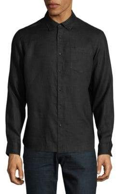 Black Brown 1826 Classic Linen Sport Shirt