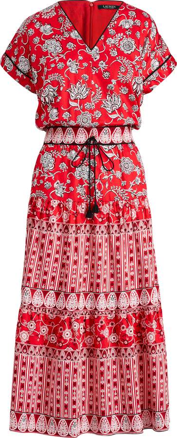 Ralph Lauren Print Sateen Dress