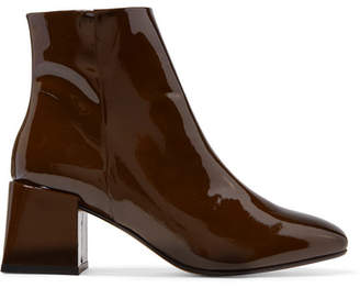 LOQ Lazaro Patent-leather Ankle Boots - Brown