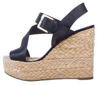 623239813a Sergio Rossi Leather Platform Sandals
