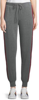 Velvet Heathered Side-Stripe Jogger Pants
