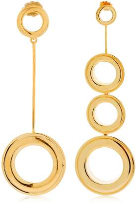 Asymmetrical Grommet Earrings