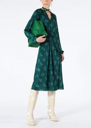 Tibi Remi Jersey Shirred Long Dress