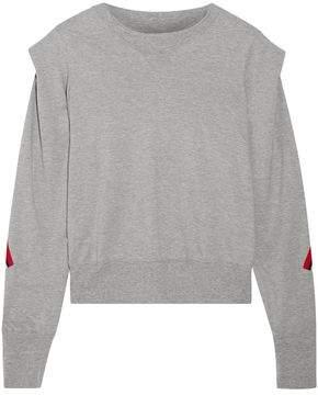 Facetasm Striped Wool-Trimmed Cotton-Jersey Sweatshirt