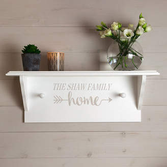 The Painted Broom Company Personalised Home Shelf