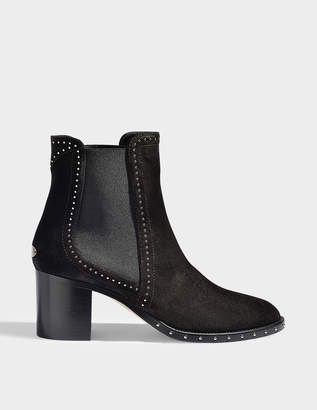 Jimmy Choo Merril suede and crystal booties