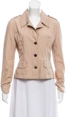 Miu Miu Button-Up Long Sleeve Jacket