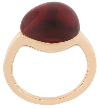 Pomellato 9kt yellow gold Rouge Passion synthetic orange sapphire ring