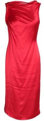 Amanda Wakeley Ruched Satin Dress