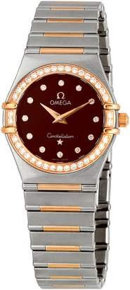 Omega Women's 1358.60.00 Constellation '95 Diamond Bezel Dial Watch