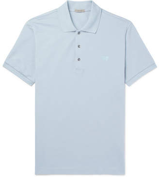 Bottega Veneta Cotton-Pique Polo Shirt - Men - Light blue