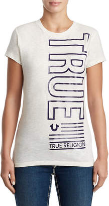 True Religion WOMENS METALLIC TRUE NATION TEE