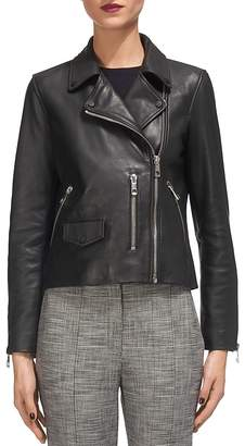 Whistles Agnes Leather Moto Jacket $630 thestylecure.com