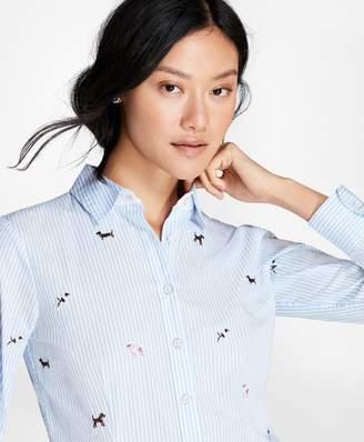 Brooks Brothers Dog-Embroidered Cotton Poplin Shirt