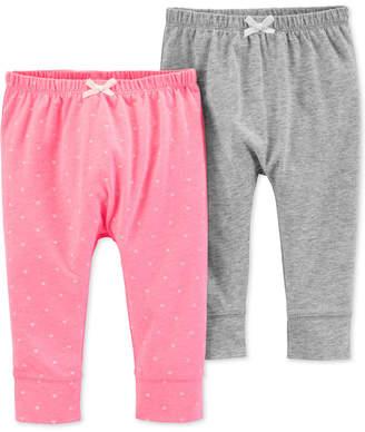 Carter's Baby Girls 2-Pk. Cuffed-Hem Pants