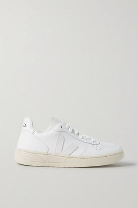 Veja Net Sustain V-10 Leather Sneakers - White