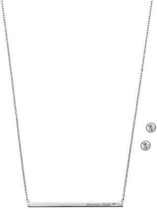 Michael Kors Pendant Necklace w/Stud Earrings $115 thestylecure.com
