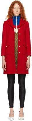 Gucci Red Classic GG Wool Coat