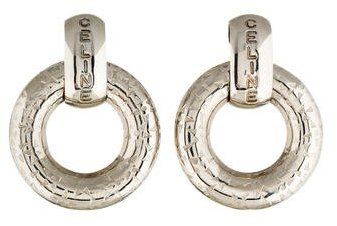 Celine Céline Doorknocker Clip-On Earrings
