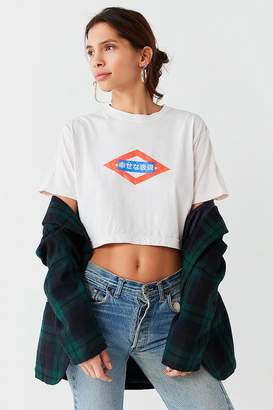 Urban Outfitters Happy Express Cropped Tee