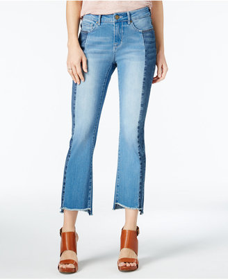 WILLIAM RAST Cropped Frayed Two-Tone Flared Jeans $79.50 thestylecure.com