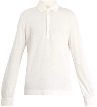 Massimo Alba Long-sleeved linen-piqué polo shirt