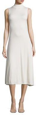 Polo Ralph Lauren Mockneck Midi Dress $198 thestylecure.com