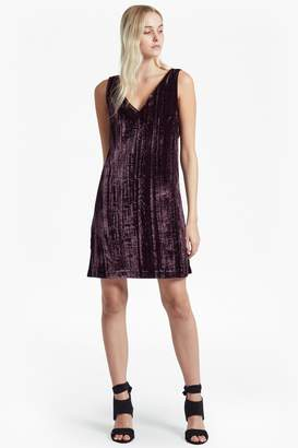 French Connection Theresa Velvet V Neck Dress