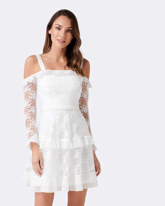 Forever New Lucy Frill Long Sleeve Dress