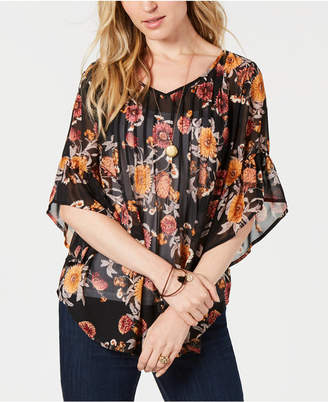 Style&Co. Style & Co Pintuck Peasant Top, Created for Macy's