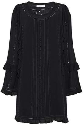 IRO Ruffled Broderie Anglaise Gauze Mini Dress